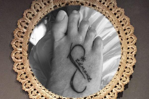 Voet tatoeage