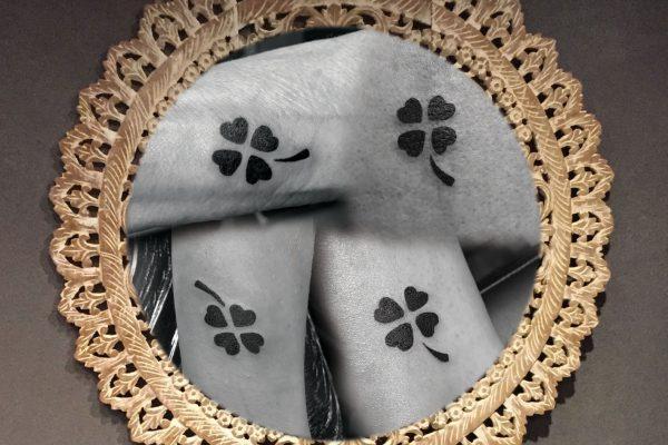 Klavertje vier tatoeage