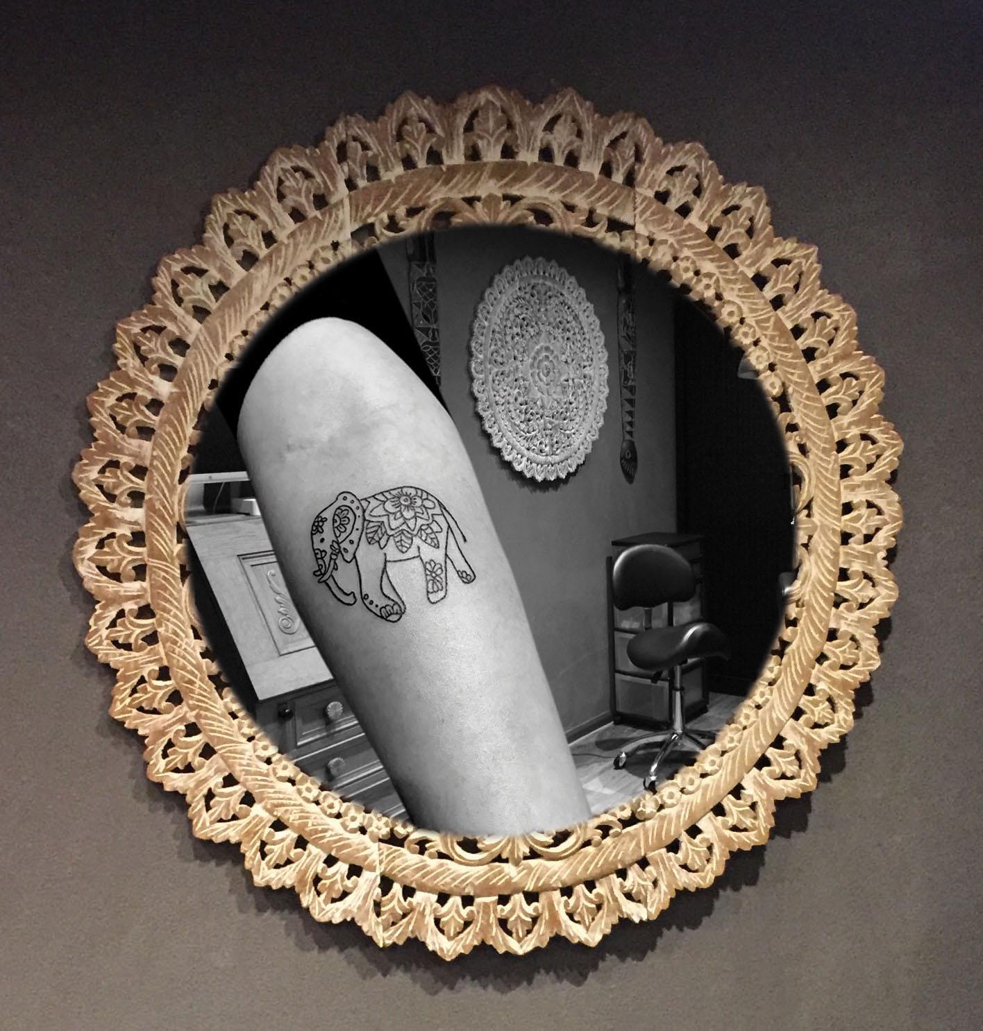 Olifantje tatoeage