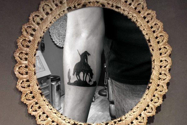 Indian op paard